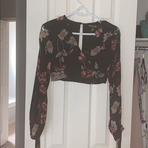 Floral top with long sleeves